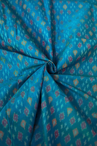 Ramar Blue Ikat Silk Cotton Fabric