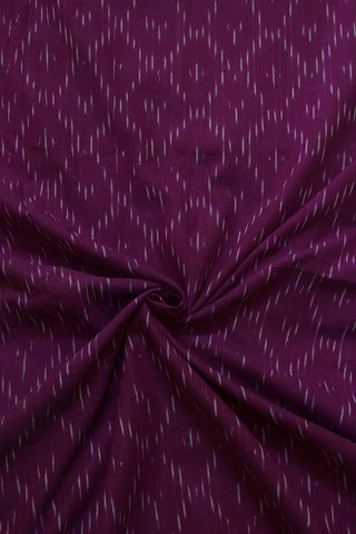 Double Shaded Purple Ikat Cotton Fabric