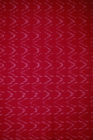 Dark Pink Ikat Silk Cotton Fabric