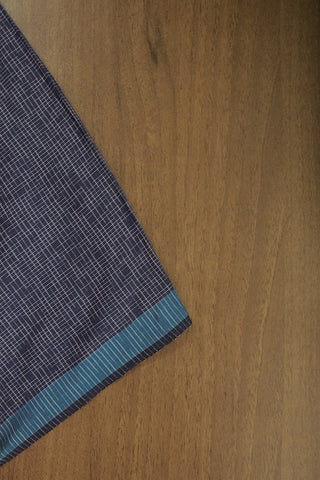 Blue Soft Fine Cotton Checkered Fabric