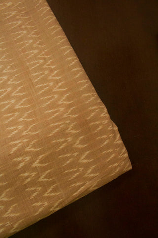 Light Beige Mercerized Ikat Cotton Fabric