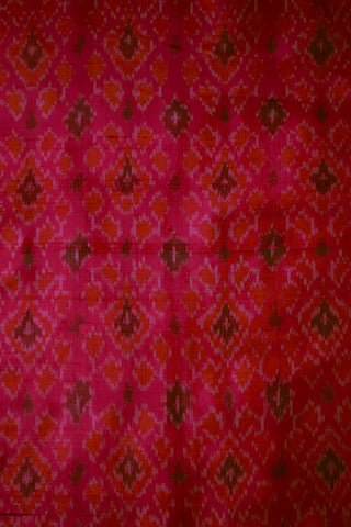 Ikat Raw Silk Fabric