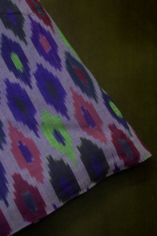 Multicolour Diamonds Handwoven Ikat Fabric