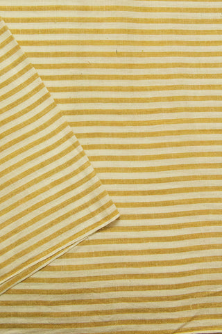 Cream with Brown Stripes Bengal Handwoven Fabric