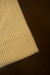 Cream with Brown Stripes Bengal Handwoven Fabric-0.95m