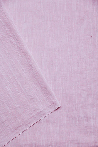 Light Pink Natural Dyed textured Handwoven Fabric-1.4 m