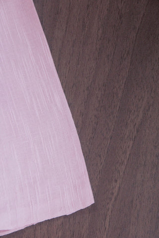 Light Pink Natural Dyed textured Handwoven Fabric