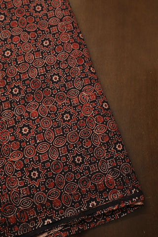 Intricate Black Ajrak Cotton Fabric