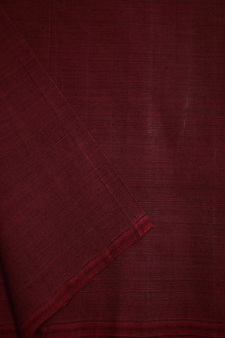 Black-Maroon Mangalagiri Cotton Fabric