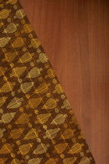 Shades of Yellow Dabu Print Cambric Cotton Fabric
