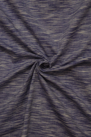 Blue with white Irregular Striped Handwoven Cotton Fabric