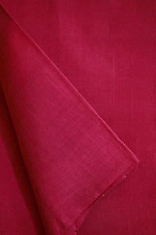 Dark Pink Mangalagiri Cotton Fabric