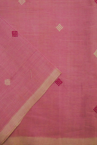 Light Lavender with Square Butta Handwoven Cotton Fabric