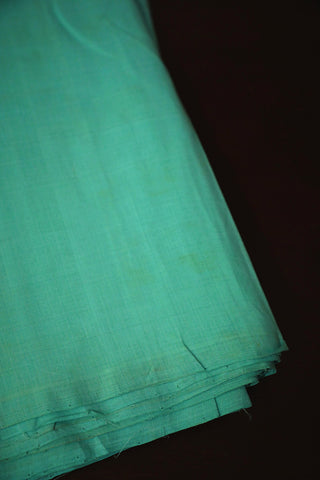 Light Greenish Blue Mangalagiri Cotton Fabric