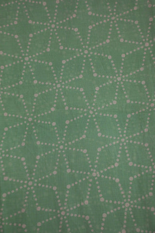 Greyish Blue Sanganeri Mul Cotton Fabric-0.5 m