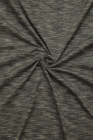 Grey with white Ramdom Stripes Handwoven Cotton Fabric
