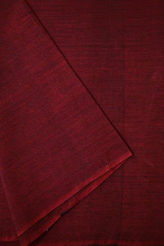 Dark Maroon with Black Yarn Dyed Cotton Fabric