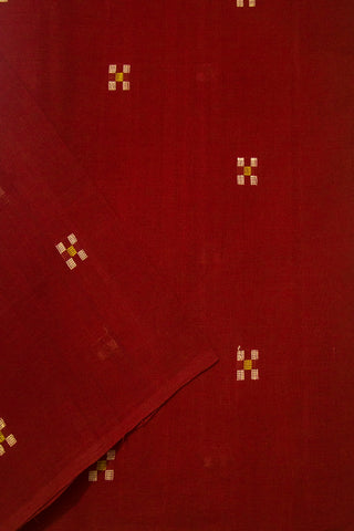 Maroon 5 Square Buta Handwoven Cotton Fabric