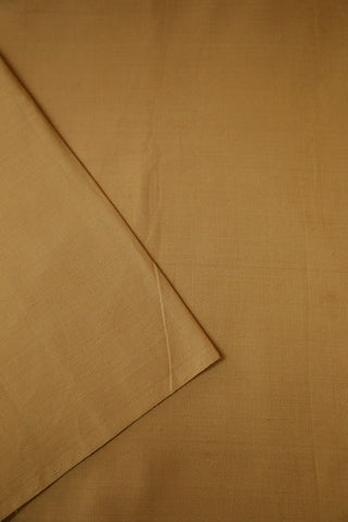 Biege Yarn Dyed Handwoven Cotton Fabric