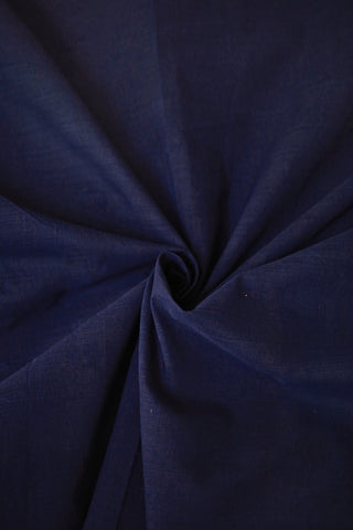 Dark Blue Yarn Dyed Handwoven Cotton Fabric