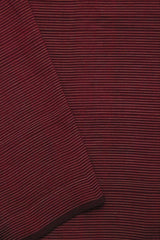 Maroon Stripes Handwoven Cotton Fabric