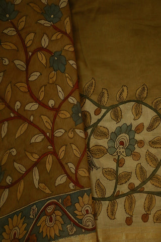 Designer Chanderi Hand Painted Kalamkari Saree