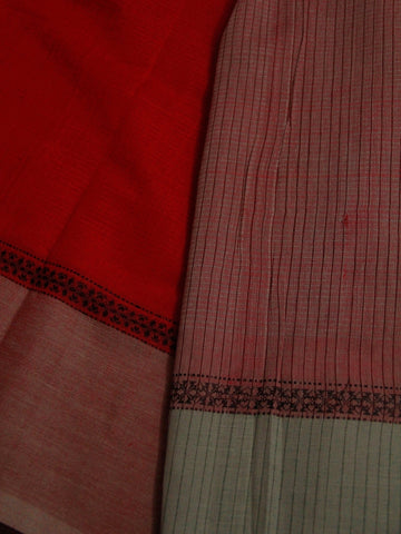 Red Handwoven Cotton Saree