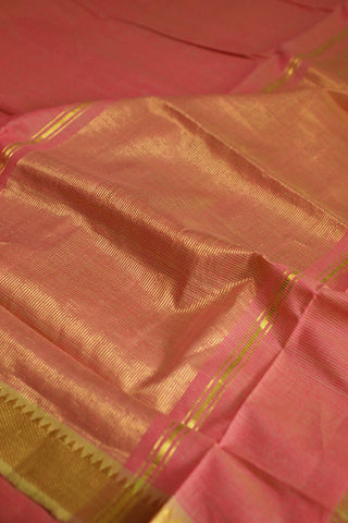 Pink with Small Missing Weaves Cotton Saree
