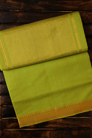 Yellowish Green Handwoven Mangalagiri Cotton Saree
