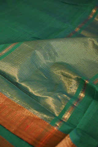 Double Shaded Green Mangalagiri Cotton Saree