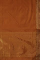 Orange Traditional Border Mangalagiri Cotton Saree