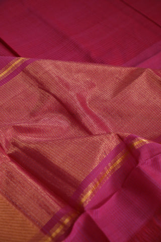 Double Shaded Pinkish Purple Mangalagiri Cotton Saree