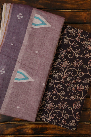 Ajrak Fabric with Jamdani Stole