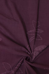 Subdued Purple - Batik work Organic Handwoven Cotton