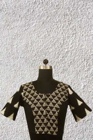 Black Triangles - Stitched Blouse - 36, 38 & 40