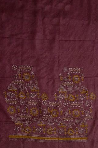 Hand worked Kantha tussar silk Blouse