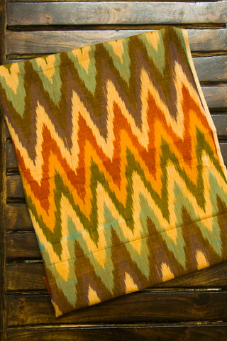 Shades of Orange Ikat with Trims