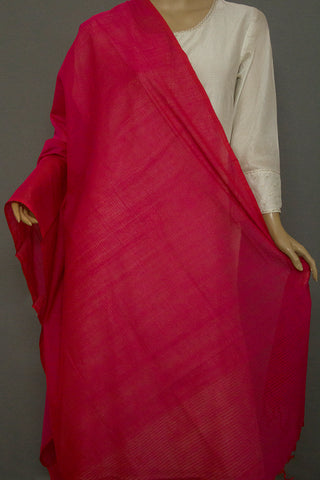 Pink Missing Weaves Handwoven Dupatta