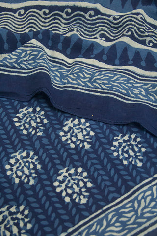 Block Printed Mul Cotton Dupatta