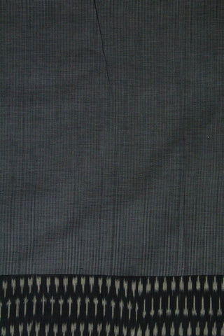 Cement Grey Missing Weaves Handwoven Fabric with Lambani Yoke