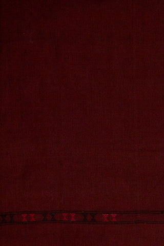 Deep Maroon Handwoven Cotton Urmul Kurta Fabric