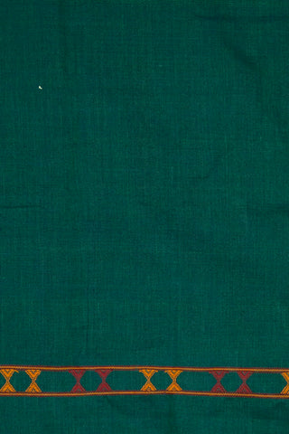 Double Shaded Green Handwoen Cotton Urmul  Kurta Fabric
