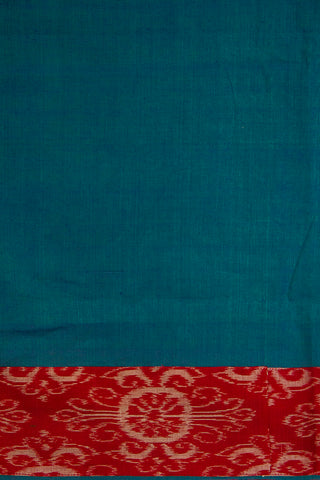 Double Shaded Blue Handwoven Fabric with Kutch Embroidered Yoke