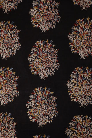 Intricate Prints in Black Kalamkari Cotton Fabric