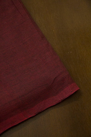 Dark Brown Handwoven Mangalagiri Cotton Fabric - 0.5m