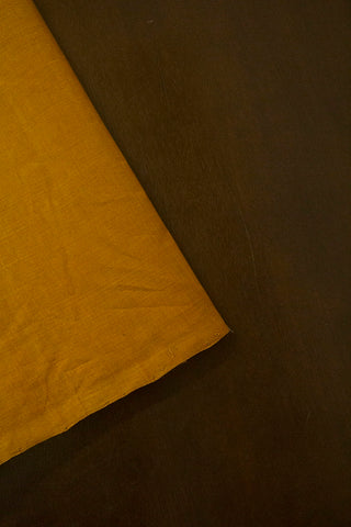 Fenugreek Yellow Mangalagiri Cotton Fabric-1.9m
