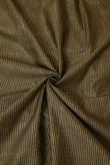 Gold Lines in Grey Silk Cotton Fabric