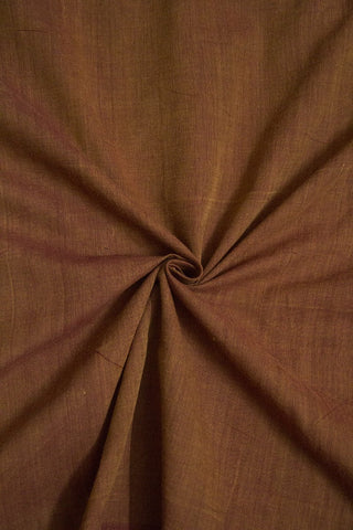 Double Shaded Brown Handwoven Mangalagiri Cotton Fabric - 1.6m