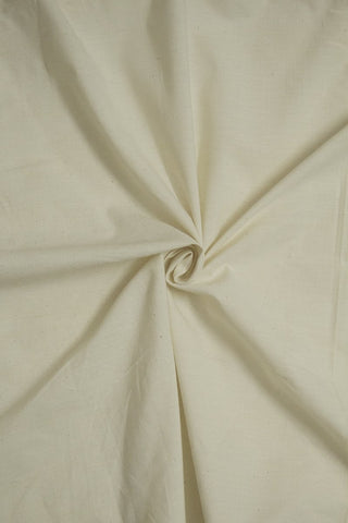 Off White Yarn Dyed Cotton Fabric - 1.5m