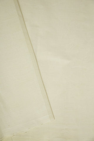 Off White Mangalagiri Handwoven Cotton Fabric - 1.8m